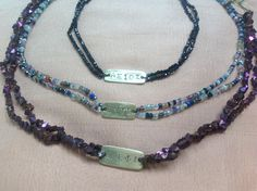 """It's Greek to Me"" Chokers of semi-precious, with Atoms of Wisdom.... worthy, good health always, independent spirit....or your choice. Order www.madesagharbor.com Byzantine Gold, Atoms, Handcrafted Jewelry, Greek, Artisan, Beaded Necklace, Chokers, Jewelry Making, Spirit"
