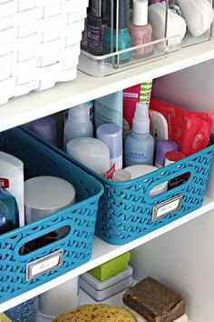IHeart Organizing: Monthly Clean Home Challenge: Purge Bathroom Toiletries
