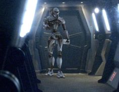 Battlestar Galactica Free Wallpaper | ... Cylon Centurion Robot from Battlestar Galactica - The Green Head