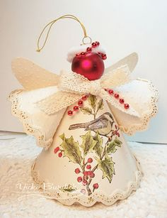 Christmas Decorations To Make And Sell Como hacer un angel navideño