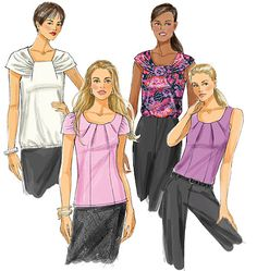"""View C, tank top. Combined a mish-mash of sizes from 18 to 22 attempting to get a """"perfect"""" fit in the pattern without having to do alterations."""