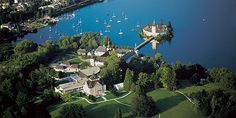 This is where our wedding will be!  Castle in the lake, Gmunden, Austria. It's like a fairy tale!