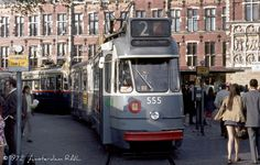 Amsterdam, 1972. The 5G 'bolkop', Build in 1957-1960, these trams were used until 2003, almost 45 years.