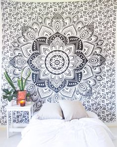 Minimal Mandala Tapestry Silver Sparkle Tapestry – The Bohemian Shop Bohemian Room, Bohemian Tapestry, Bohemian House, Mandala Tapestry, Mandala Art, Psychedelic Decor, Psychedelic Tapestry, Blanket On Wall, Stick Wall Art