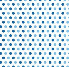 Bolinhas Médias Azul e Azul Claro