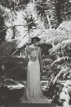 Beautiful shot of our #ClaireBride in her Orange Blossom coutre wedding dress by Claire Pettibone https://couture.clairepettibone.com/collections/continuing-collection/products/orange-blossom