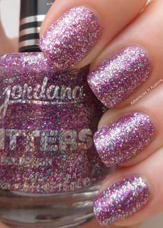 Adventures In Acetone: Jordana Glitters Swatches and Review!