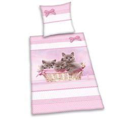 Herding 445134050 Bettwäsche Katzen, Kopfkissenbezug: 80 x 80 cm + Bettbezug: 135 x 200 cm, 100 % Baumwolle, Renforce von Herding, http://www.amazon.de/dp/B00ABYGZ1S/ref=cm_sw_r_pi_dp_4tz1sb0SKKYSW