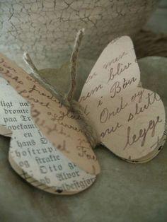 Como hacer mariposas de papel estilo vintage - Dale Detalles