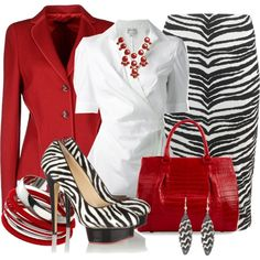 A fashion look from March 2014 featuring Armani Collezioni blouses, Rena Lange blazers and Nadia Tarr skirts. Browse and shop related looks.