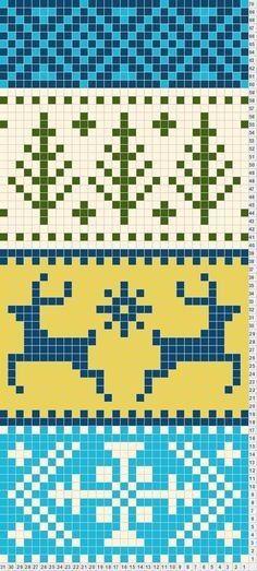Ideas For Crochet Scarf Chart Fair Isles Fair Isle Knitting Patterns, Bead Loom Patterns, Knitting Charts, Loom Knitting, Knitting Stitches, Knitting Designs, Knitting Projects, Stitch Patterns, Motif Fair Isle