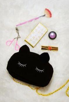 black cat makeup pouch | https://sincerelysweetboutique.com/accessories/purses.html | https://sincerelysweetboutique.com | Sincerely Sweet