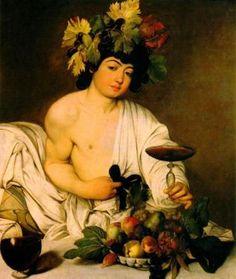 Bacchus the Roman God of wine. Dionysus (in Greece)