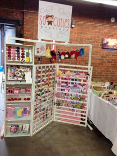My booth, finally I found the great display for my craft shows. Thanks Pinterest for all the amazing ideas!!!