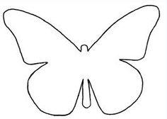 kern 12: vakantie Vlinder sjabloon