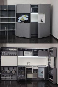 Kuchyně schované ve skříni | Living.cz