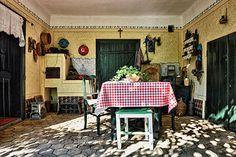 "Dida Hornjakov salaš, Serbia, built in 1901, with old furniture | farms are called ""salaš"" in Serbian, pronounced salash / sǎlaːʃ |"