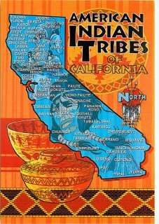 California Native American Tribes Map • Postcard