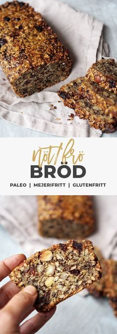 Recipe: Gluten-free bread with seeds and nuts. No Carb Recipes, Raw Vegan Recipes, Paleo Bread, Low Carb Bread, Gluten Free Bakery, Foods With Gluten, Brunch Recipes, Food Inspiration, Good Food