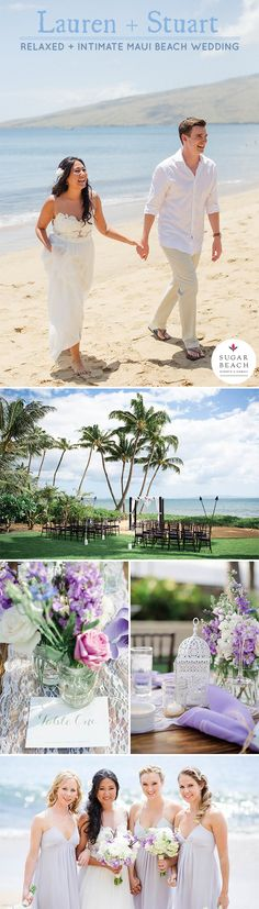It was a gorgeous day beside the ocean for Lauren and Stuart's beach wedding in Maui at the gorgeous ocean-front wedding venue, Sugar Beach Events. With a gathering of family and friends that flew in from Vancouver, Canada, it was a day that sparkled with intimate moments and deep expressions of love.