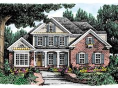 Eplans Country House Plan - Classic Country Charm - 2351 Square Feet and 4 Bedrooms from Eplans - House Plan Code HWEPL08680