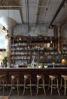 The Best Vintage Industrial Bar And Restaurant Design Ideas Decoration Restaurant, Deco Restaurant, Restaurant Design, Vintage Restaurant, Restaurant Chairs, Café Bar, Bar Interior Design, Cafe Design, Interior Concept