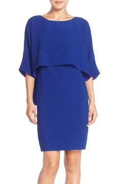 Adrianna Papell Adrianna Papell Draped Blouson Sheath Dress available at #Nordstrom