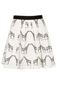 Kissing giraffe pleated skirt.  Not sure what I would wear this with or if I could even pull it off, but it's so cute!