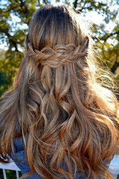 criss-cross braids + waves