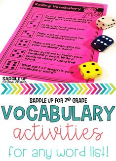 The following activities are designed to enhance and engage your vocabulary instruction. These 17 low prep activities can be used with any set of vocabulary words. You can do them whole group or have students do them for independent practice. Each activity is listed below.