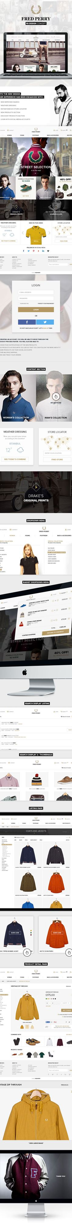 Fred Perry / Website Redesign Concept