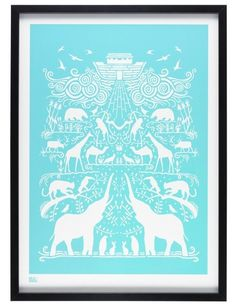 Ark Print in Azure Blue
