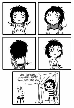 There is so much going on in every woman's life. There are sad, funny, and sometimes absurd things. Sarah Andersen was able to show a woman's life in her comic series. Sarah Anderson Comics, Sara Anderson, Manga Comics, Marvel Comics, Sarah's Scribbles, The Awkward Yeti, 4 Panel Life, Funny Memes, Hilarious