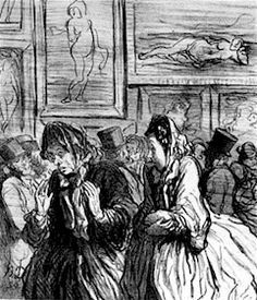 Honoré Daumier satirized the bourgeoises scandalized by the Salon's Venuses, 1864