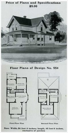 radford 1903 queen anne cottage wrapped porch victorian house plansvintage - Vintage Farmhouse Plans
