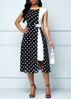 High Waist Polka Dot Print Black Dress Source by rainbigger fashion Short African Dresses, Latest African Fashion Dresses, Women's Fashion Dresses, Jeans Fashion, Fashion Black, Diy Fashion, Winter Fashion, Fashion Tips, Stylish Dresses