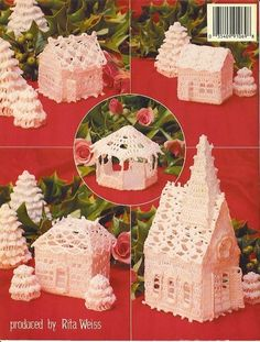 Thread Crochet Christmas Village Crochet Patterns in Crafts, Needlecrafts & Yarn, Crocheting & Knitting Crochet Christmas Ornaments, Christmas Crochet Patterns, Holiday Crochet, Crochet Home, Crochet Crafts, Crochet Projects, Free Crochet, Christmas Knitting, Christmas Projects