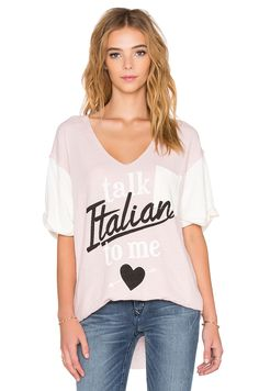 Wildfox Couture CAMISETA ESTAMPADA TALK ITALIAN TO ME