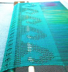 Mermaid scarf on a rigid heddle loom
