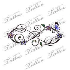 Infinity initials   Infinity initials #148365   CreateMyTattoo.com