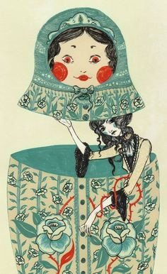 I have had a Russian Doll fascination for the last couple of years. Our daughters have the dolls as a bedroom theme, as well as a birthday cake one    year. I chose this image as a pin, as it is a little different to the images that are circulating at the moment.