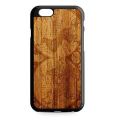 Worl Map Old Wood Design iPhone 7