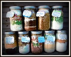 a gazillion meal in a jar recipes listed alphabetically  http://www.budget101.com/frugal/convenience-mixes-181/