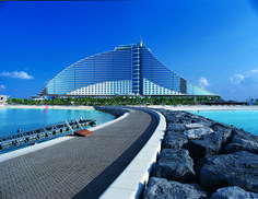 Jumeirah Beach Hotel is a stunning combination of design and architecture at Dubai.