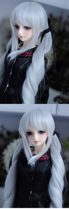 BJD Female Silver Gray Hair Wig for SD Size Ball-jointed Doll_WIG_Ball Jointed Dolls (BJD) company-Legenddoll