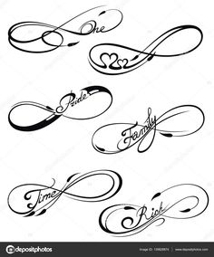 Télécharger - Black Infinity symbols in tattoo style — Illustration #139828874