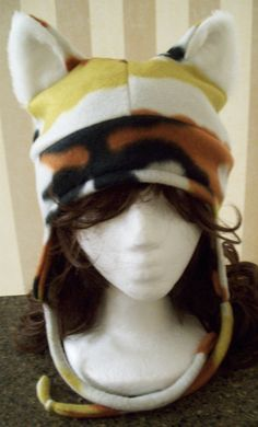 Calico Cat Hat by StungunMoy.deviantart.com on @deviantART ~ So cute!!  I want one!  ~B