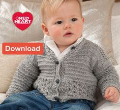 Free Red Heart Baby Knitting Pattern – Cardigan | LoveKnitting Blog