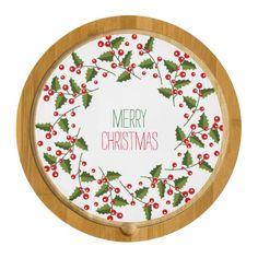 Felices Navidad verdes y guirnalda roja