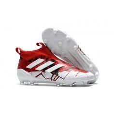 pretty nice d61dd 15da9 Adidas ACE - Adidas Ace 17+ PureControl FG Fodboldstøvler Rød Hvid Football  Shoes, Basketball